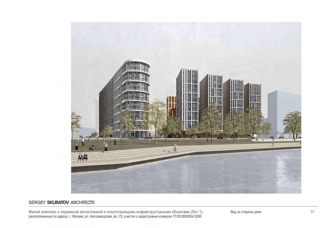 Facades of residential buildings on the ZIL will be made of brick 79