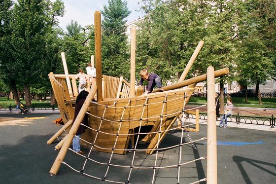 Корабль на детскую площадку своими руками из дерева