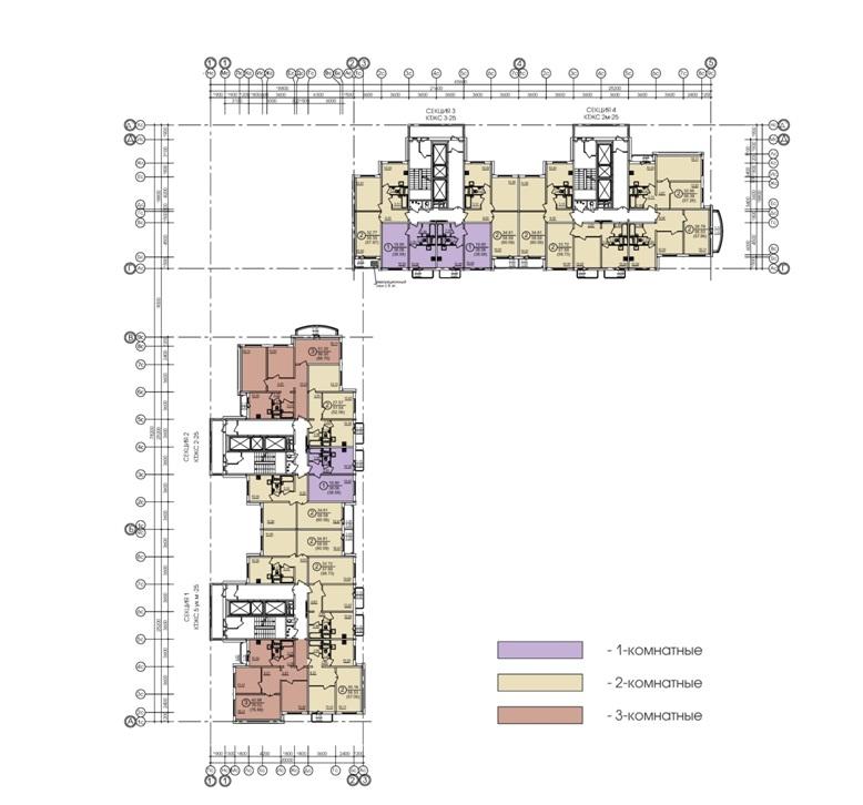 Схема плана типового этажа