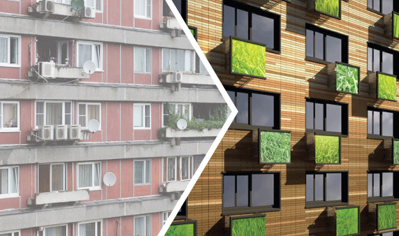 Старые vs. новые панельные серии: 6 отличий фасадных решений.